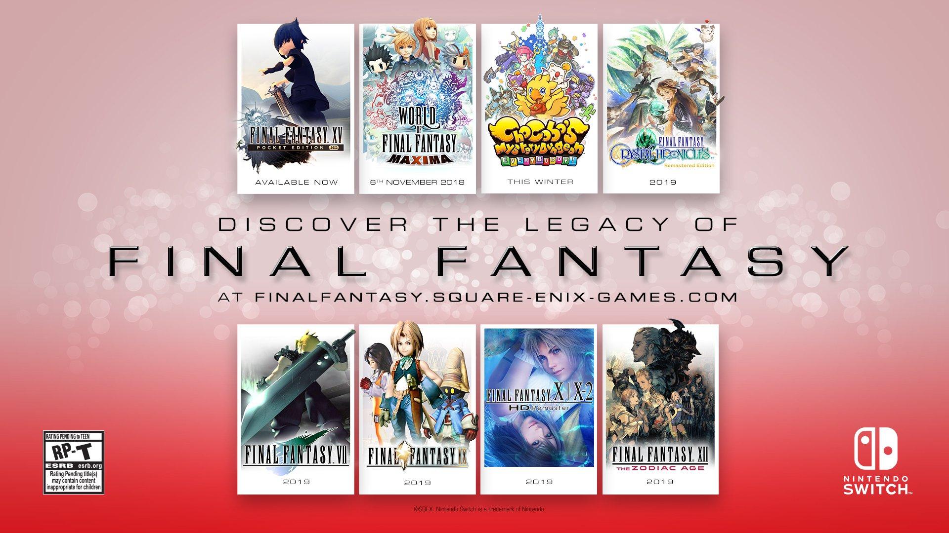 Square Enix ส่งกองทัพเกม Final Fantasy ลง Nintendo Switch !!